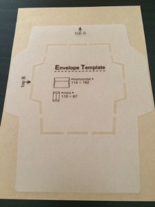 封筒 手作り テンプレート 型