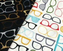 メガネ柄 USAコットン 生地 布