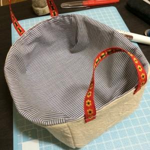 小物入れ 布 手作り かご ミシン