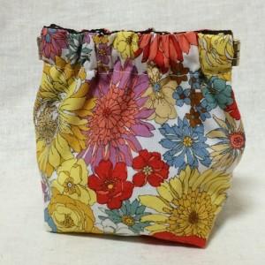 バネポーチ 手作り バネ口 セリア 100均 ハンドメイド 花柄