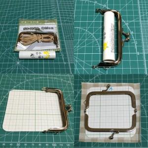 100均のがま口で手作りのリップケース 印鑑ケース型で簡単な作り方