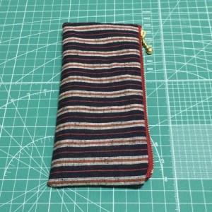 ペンケース 遠州綿紬 和柄 縞 和布 筆入れ ぺたんこ