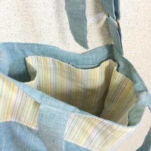 バッグ 四角 トート 手作り エピセバッグ ポケットたくさん
