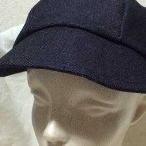 キャスケット 帽子 デニム 手作り ハンドメイド 型紙 パターン