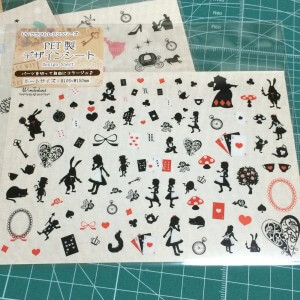 アリス レジン 封入 フィルム デザインシート 100均 キャンドゥ ディズニー