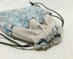 巾着 巾着袋 ポケット付きんちゃく 手作り 簡単 ハンドメイド 型紙 パターン