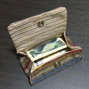 コインパース 立体 小銭入れ 手作り 和 和柄 ボーダー ハンドメイド