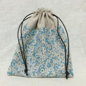 ポケット付きんちゃく snowwing 型紙 巾着 巾着袋 きんちゃく 手作り ハンドメイド