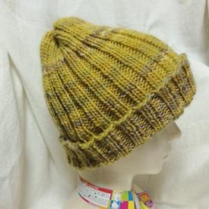 帽子 手編み 輪編み 輪針 棒針編み 二目ゴム編み オカダヤ Wonderland