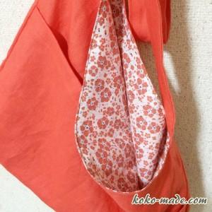 リックラック プランタンバッグ Rick rack 簡単 バッグ ショルダーバッグ 型紙 作り方 斜め掛けバッグ レシピ ミニレシピ