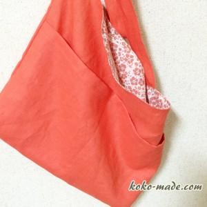 プランタンバッグ リックラック Rick rack 簡単 バッグ ショルダーバッグ 型紙 作り方 斜め掛けバッグ レシピ リネン