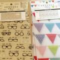 手ぬぐい 100均 100円ショップ ダイソー すてきにハンドメイド 2016 7月号 眼鏡 めがね メガネ フラッグ 旗 ガーランド